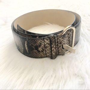 Ann Taylor Snake Print Belt / Sz L